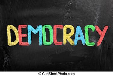 concept, democratie