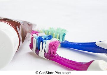 concept, dentaire, dentiste, brosse dents,  hygiène, santé, pâte