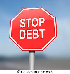 concept., deuda, parada