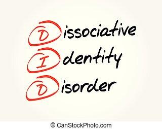 concept, did, acroniem, -, gezondheid, achtergrond