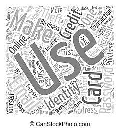 concept, diefstal, tekst, wordcloud, computer, achtergrond, identiteit
