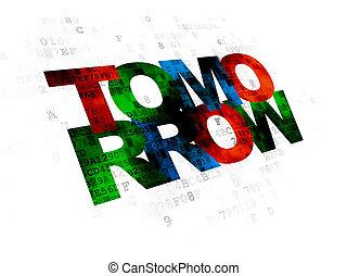 concept:,  digital, amanhã, fundo, tempo