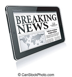 Concept - Digital Breaking News - Digital Breaking News...