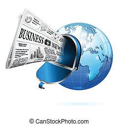Concept - Digital News