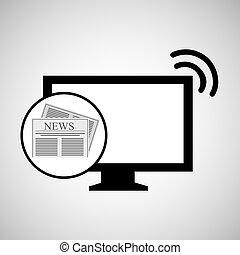 concept digital news headline icon