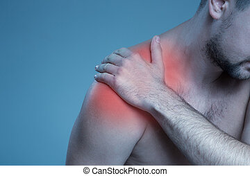 Concept disease. Pain in the shoulder joint
