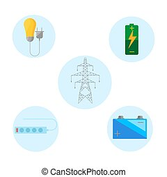 Concept distribution energy. Power distribution and safe energy