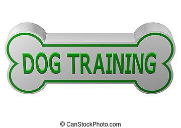 Concept: dog training. 3D rendering.