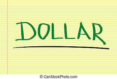 concept, dollar