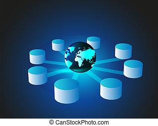 concept, données, entreposage