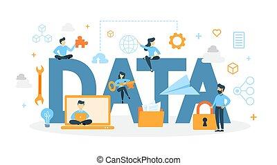 concept, données, illustration.