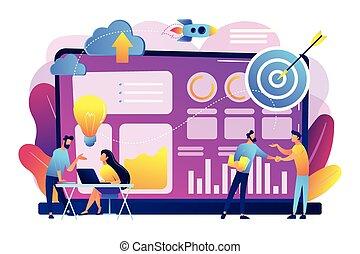 concept, données, vecteur, initiative, illustration.