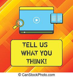 concept, donner, texte, joueur, vidéo, magnifier, sujet, quel, tablette, écriture, vous, dire, think., téléchargement, business, space., verre, particulier, ton, sur, mot, appréciation, télécharger, nous