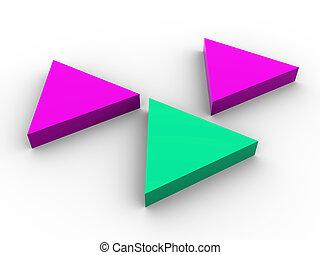 concept, driedimensionaal