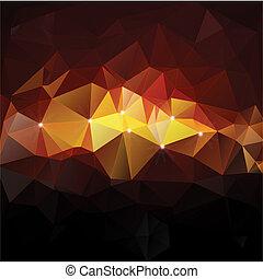 concept, driehoek, illustratie, vector, ontwerp, mozaïek