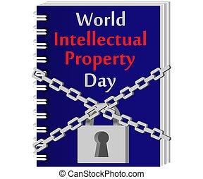 concept, droit d'auteur, formulaire, droit d'auteur, intellectuel, protection, propriété, castle., icône