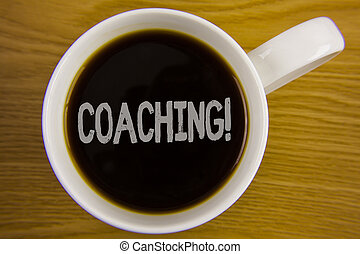 concept, dur, texte, vue., ton, tasse, sommet, entraînement, écriture, écrit, thé noir, blanc, call., placé, business, motivation, améliorer, commence, formation, mot, bois, techniques, table.