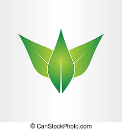 concept, eco, feuilles, vert, conception, icône