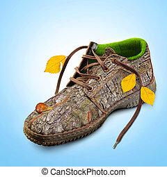 concept., eco-friendly, shoes.