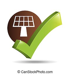 concept ecological icon panel solar