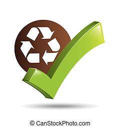 concept ecological icon recycle