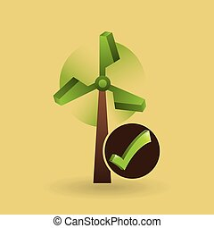 concept ecological icon wind power