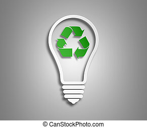 The concept of renewable energy - concept ecology. the image...
