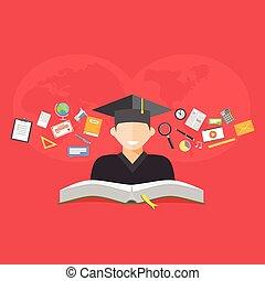 concept., educación, e- aprendizaje