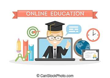 concept., educación, en línea
