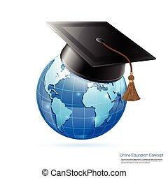 concept, education, ligne