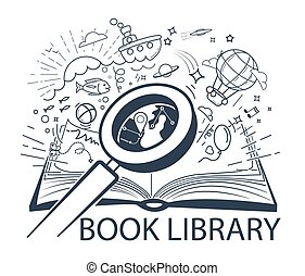 concept, education, livre
