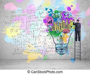concept, education, reussite, business