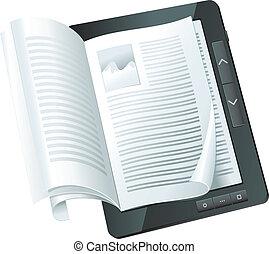 concept, elektronisch boek