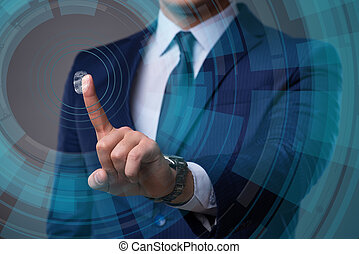 concept, empreintes digitales, identification, biometric
