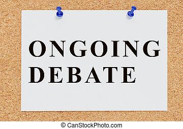 concept, en cours, débat
