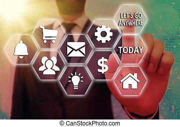 concept, endroits, lets, nouveau, anywhere., business, étrangers, visite, écriture, relax., mot, texte, jouir de, rencontrer, aller