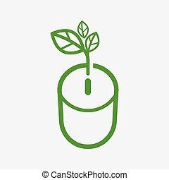 concept, energie, vector, besparing, illustratie
