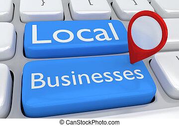 concept, entreprises, local