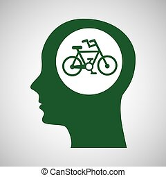 concept environment bike silhouette head