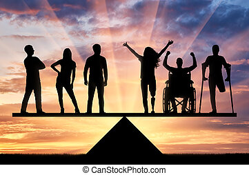 Concept equality of disabled people in society