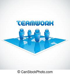 concept, equipe affaires