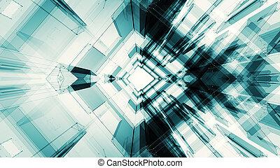 concept, espace, résumé, fond, technologie, futuriste