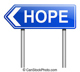concept., espoir, signe