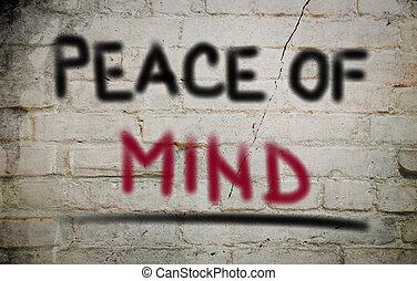 concept, esprit, paix