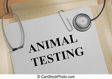 concept, essai, animal