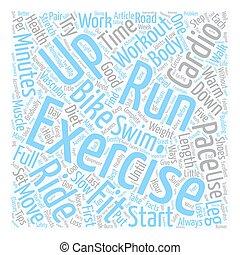 concept, essentiel, texte, séance entraînement, fitness,...
