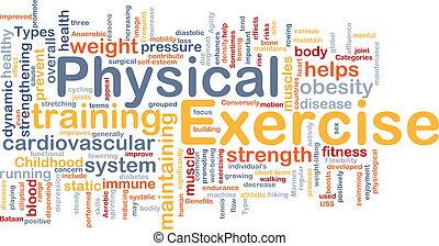 concept, exercice, fond, physique