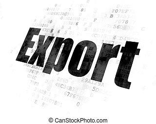 concept:, exportation, finance, fond, numérique