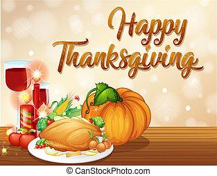 concept, fête, thanksgiving, heureux