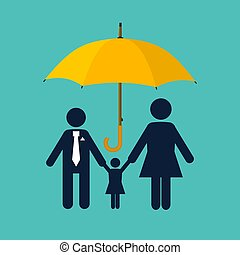 concept., famille, protection., assurance